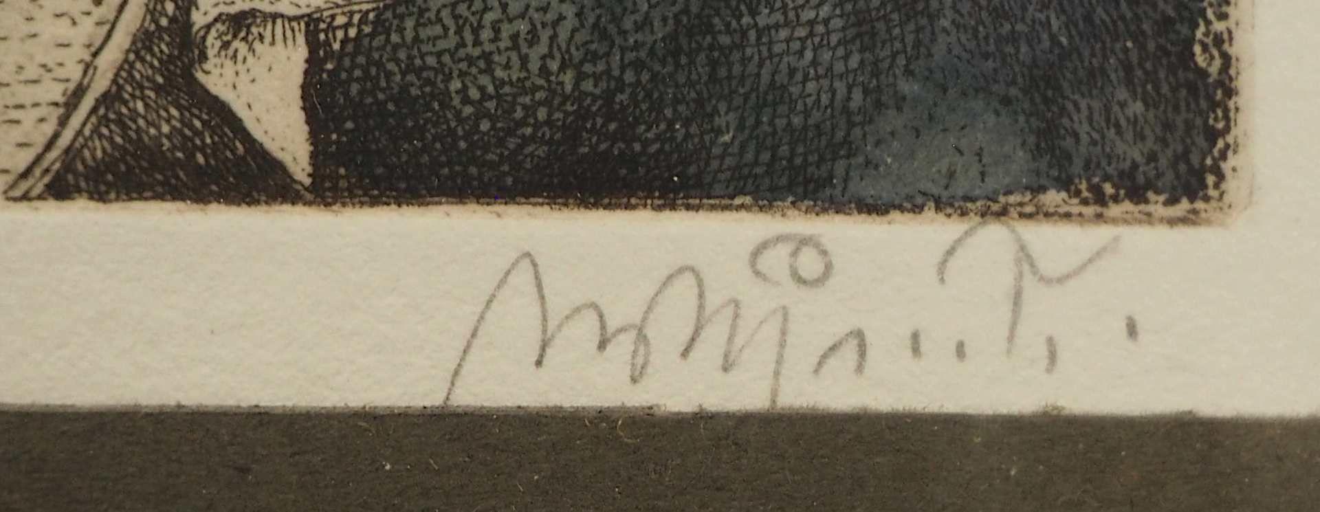 "1 Farblithografie R.u. bleistiftsign. M. M. PRECHTL (wohl Michael Mathias P. 1926-2003), ""Rembra - Bild 4 aus 6"