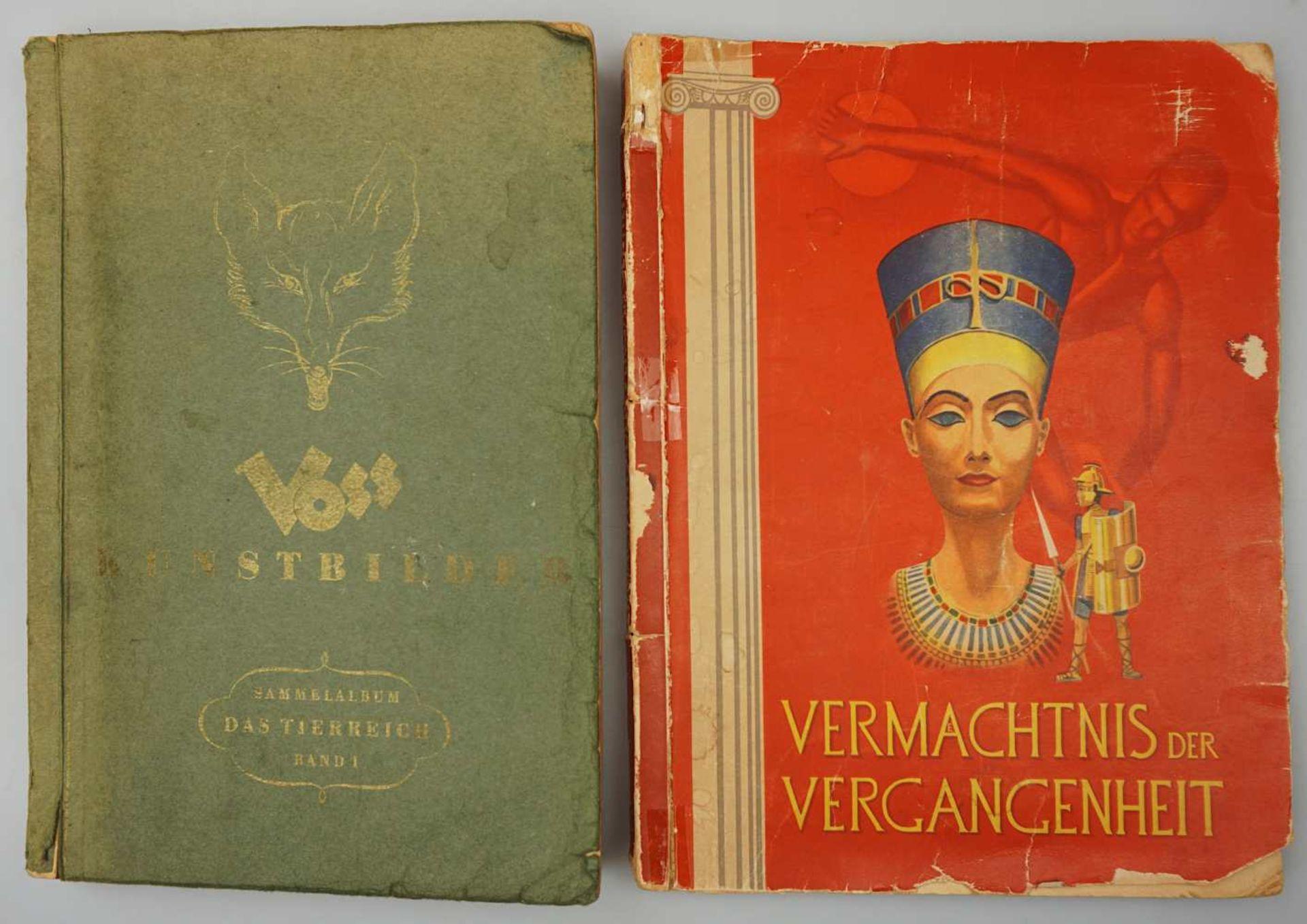 """1 Sammelbilderalbum """"Das Tierreich"""" Band I, VOSS-Kunstbilder, Bielefeld 1951 sowie 1 S"""