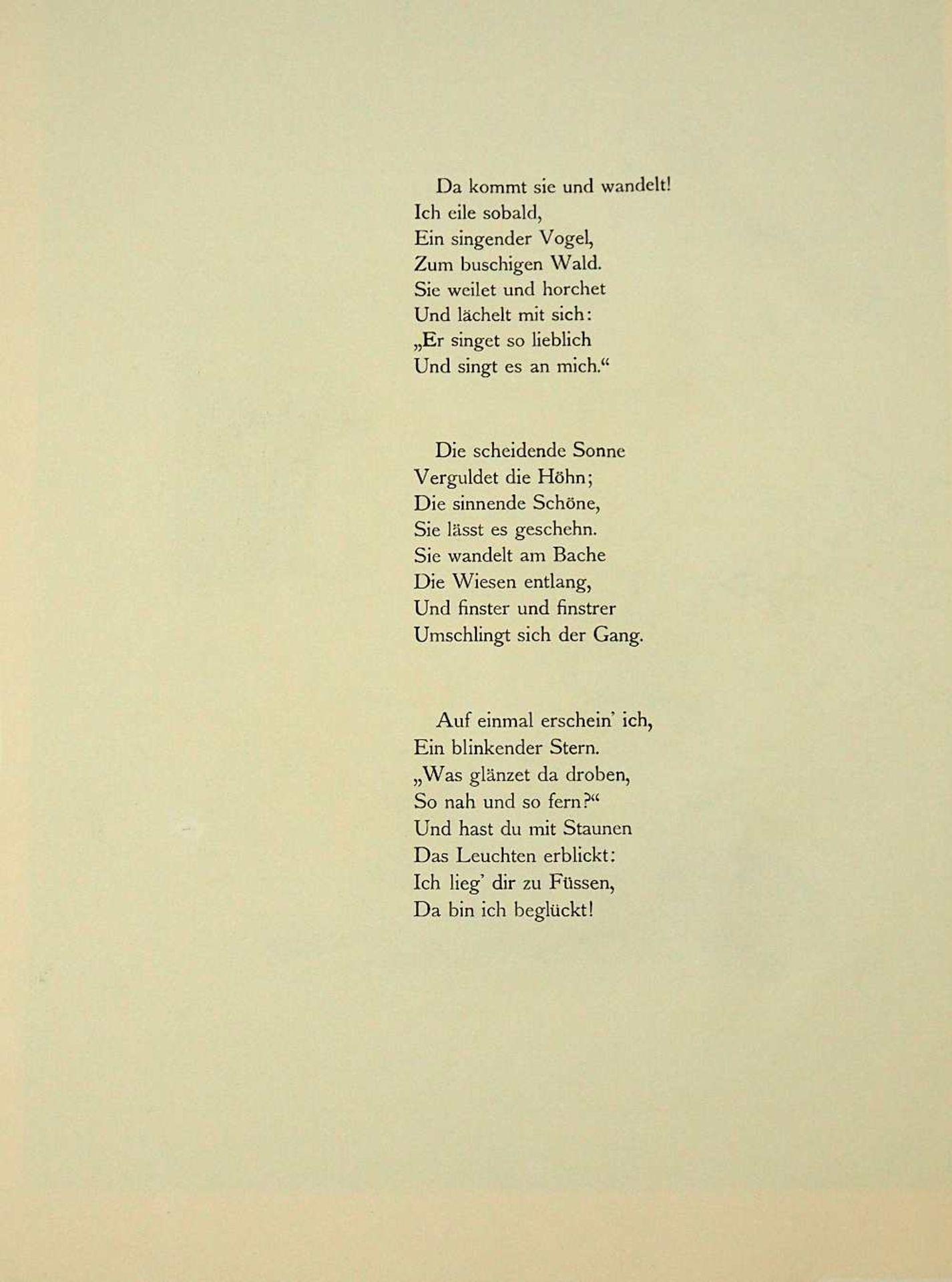 """2 Lithographien """"Sehnsucht"""" und """"Anliegen"""" rücks. zugeschrieben Hans MEID (wohl 1883- - Bild 3 aus 5"""