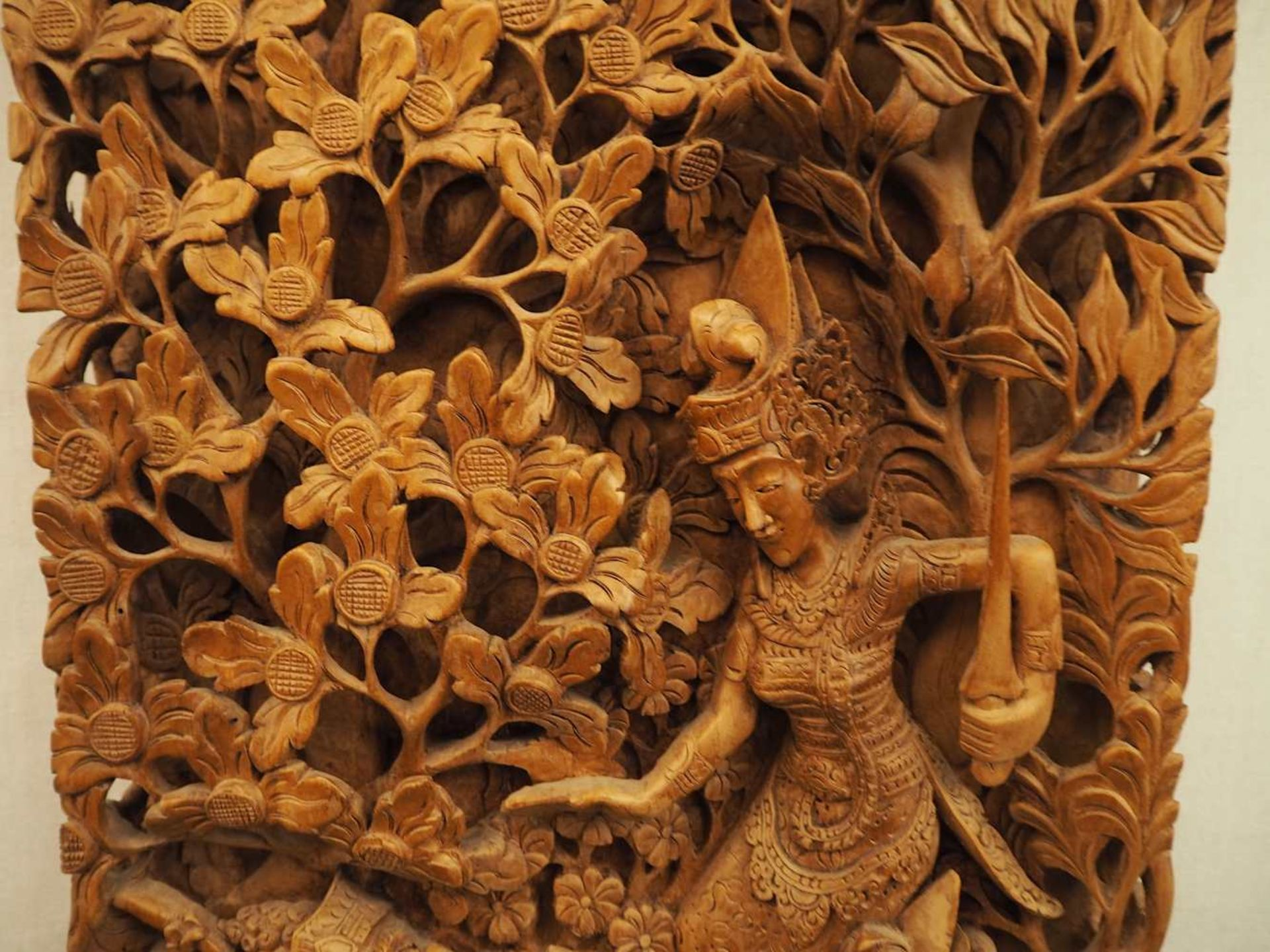 """2 Wandappliken """"Szenen aus dem Leben des Affenkönigs Hanuman"""" wohl Thailand 2. Hälfte 20. Jh.< - Bild 5 aus 6"""