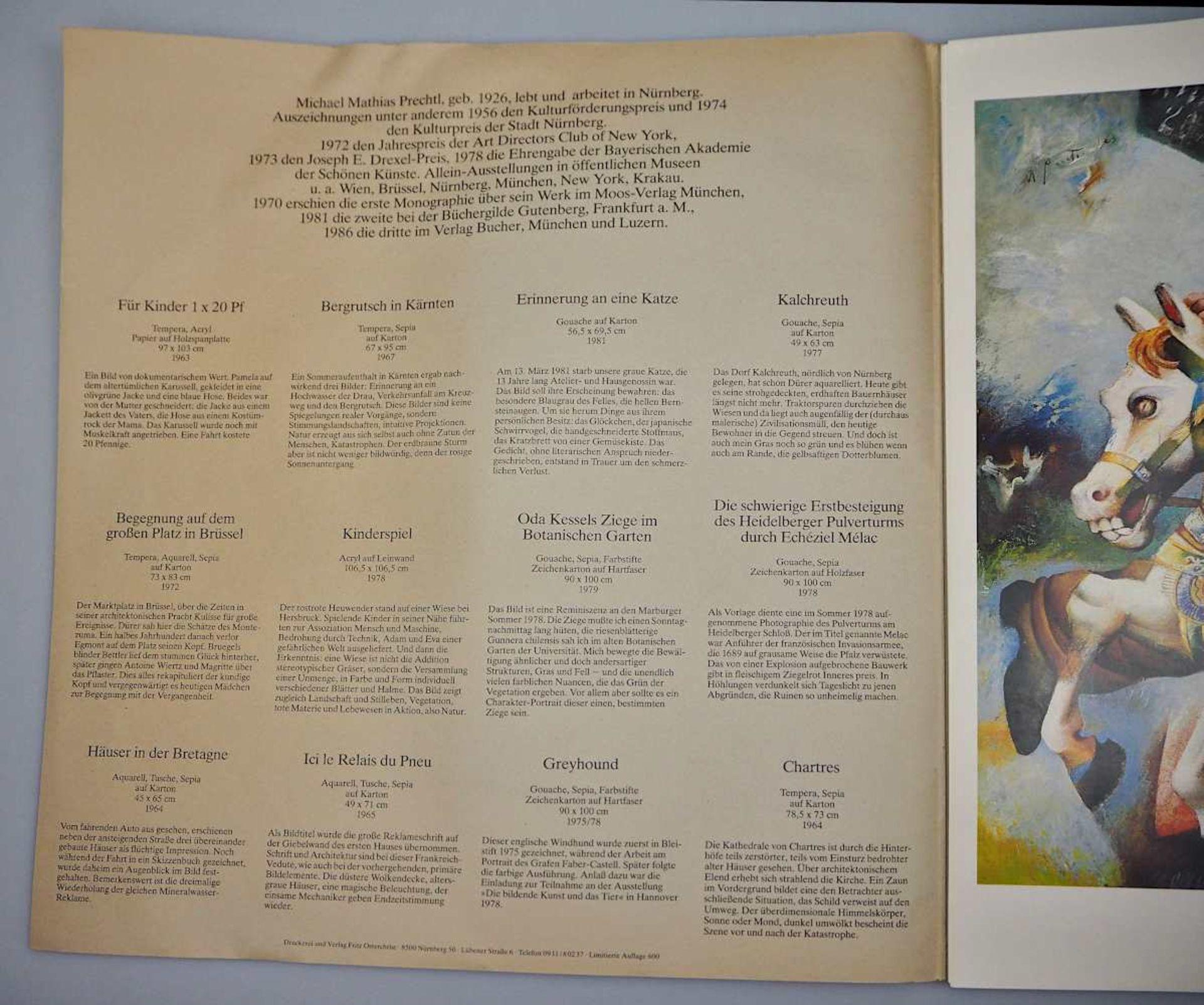 1 Sammlung Kunstbücher mit dem Schwerpunkt Michael Mathias PRECHTL (wohl 1926-2003) z.T. mit Or - Bild 3 aus 11