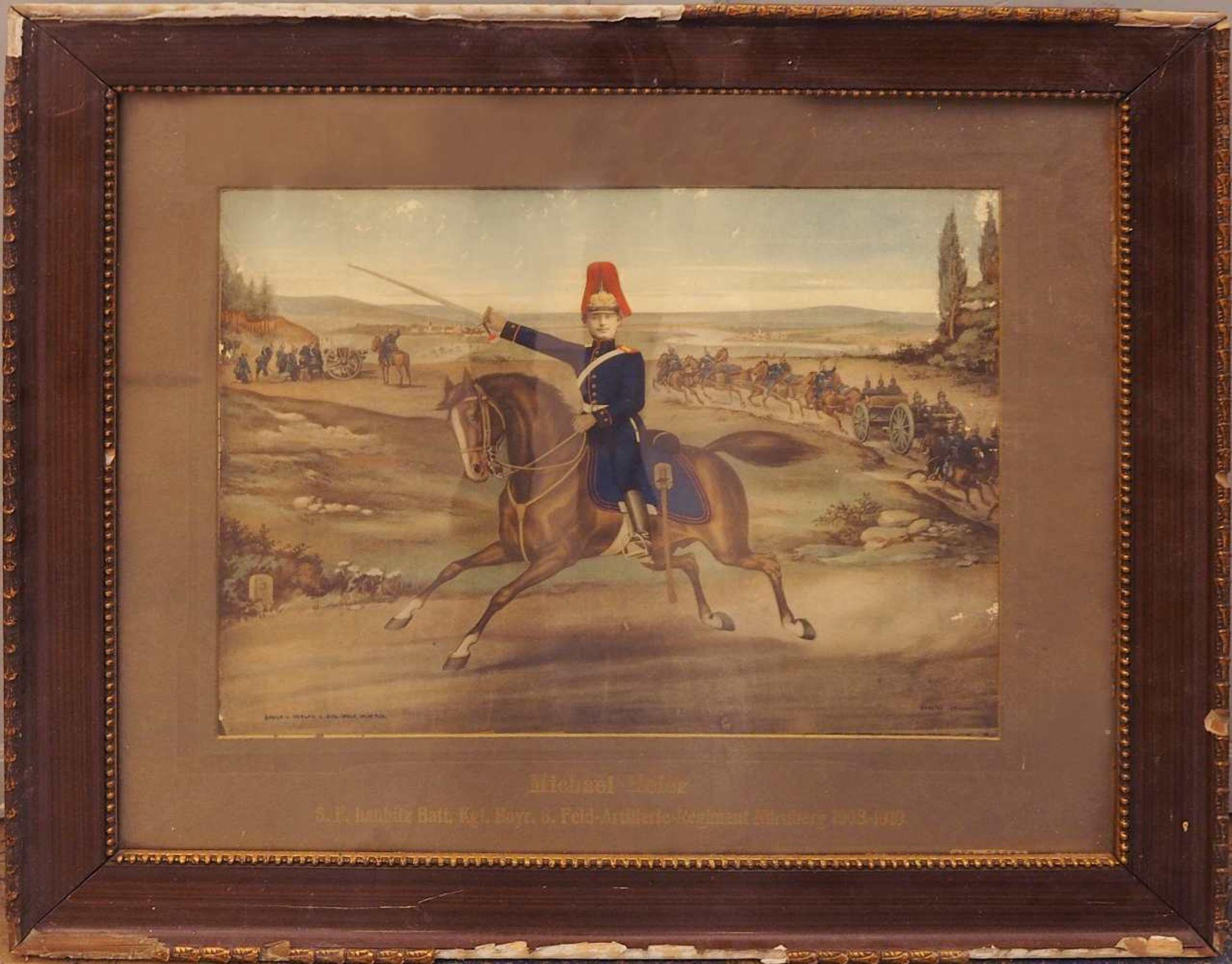 """1 Konv. Memorabilia 1. WK: 2 Fotografie-Kollagen: """"5./F/B.8.F.Art. Rgmt. Nürnberg 190"""