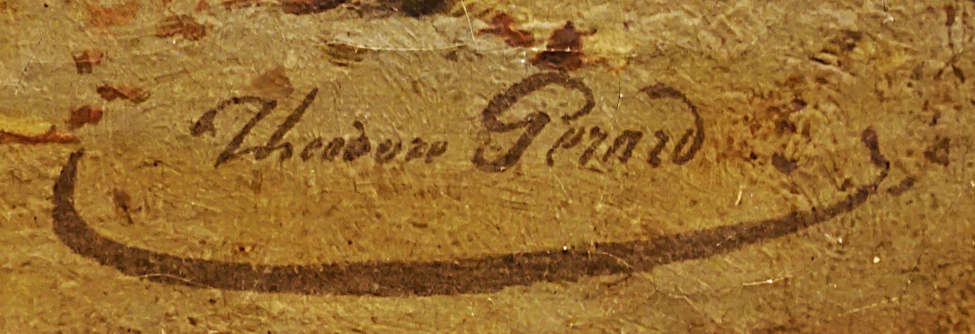 """1 Ölgemälde """"Der Sohn des Schmieds - Die zerbrochene Schiefertafel"""", R.u. sign. Théodore GÉR - Bild 2 aus 4"""