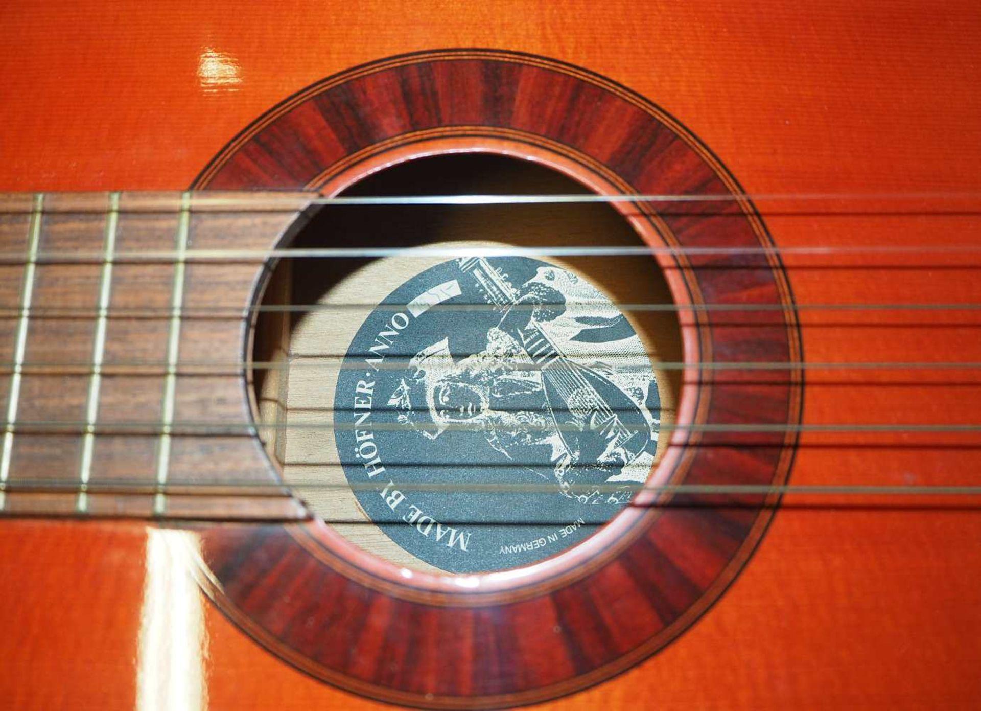 1 Konzert-Gitarre HÖFNER Modellnummer: 4840, wohl z.T. Rosenholz min. intarsiert auf - Bild 5 aus 8