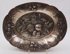 1 Prunk-/Obstschale im Barockstil, Silber 800, um 1900, Deutschland, wohl BREIDENSTEIN & RENAUD
