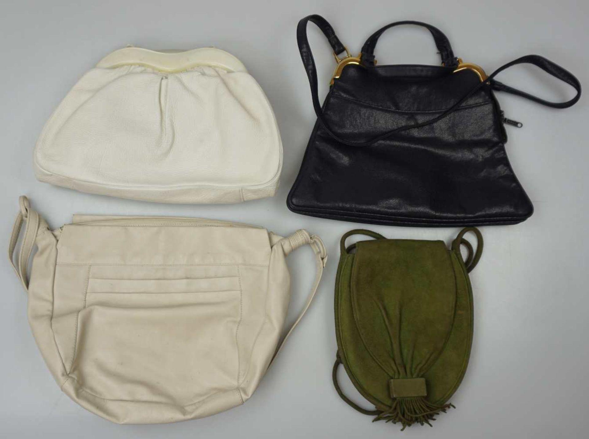 1 Konv. Hand-/Abendtaschen Straußenleder, Leder, Textil u.a. Gsp. - Bild 4 aus 5