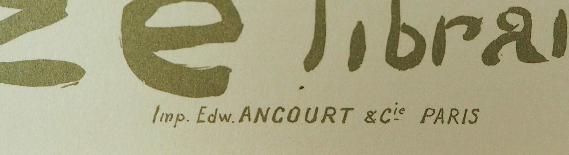 "1 Farblithographie ""Reine de Joie"" L. mittig sign./rücks. zugeschrieben TOULOUSE LAUTREC <b - Bild 3 aus 3"