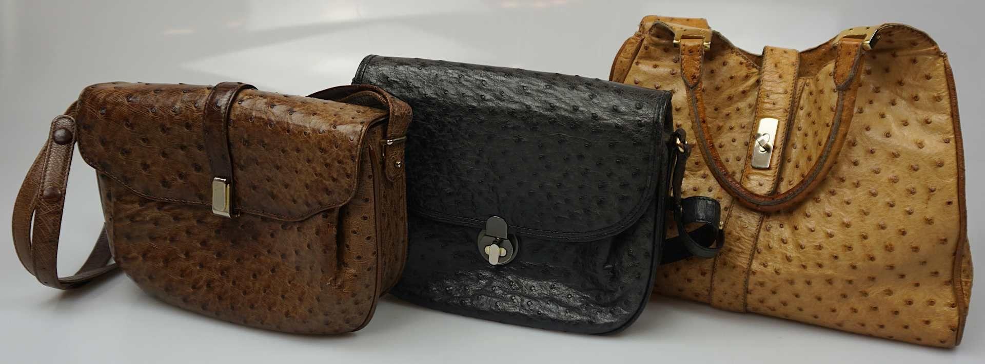 1 Konv. Hand-/Abendtaschen Straußenleder, Leder, Textil u.a. Gsp. - Bild 3 aus 5