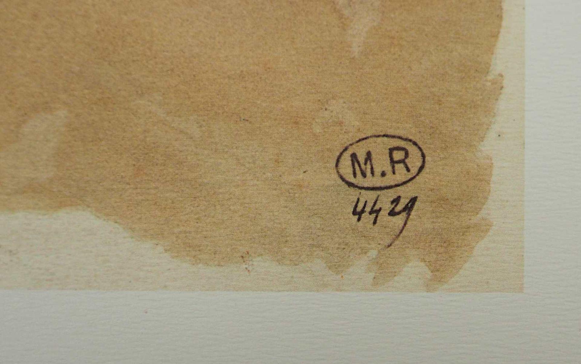 "2 Farboffset-Lithographien ""Danseuses Cambodgiennes"" rücks. zugeschrieben Auguste RODIN <br - Bild 3 aus 5"