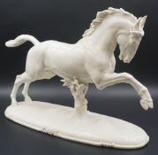 """1 Figur Porzellan NYMPHENBURG """"Galoppierendes Pferd"""", Entwurf Theodor KÄRNER (1884-1966), <"""