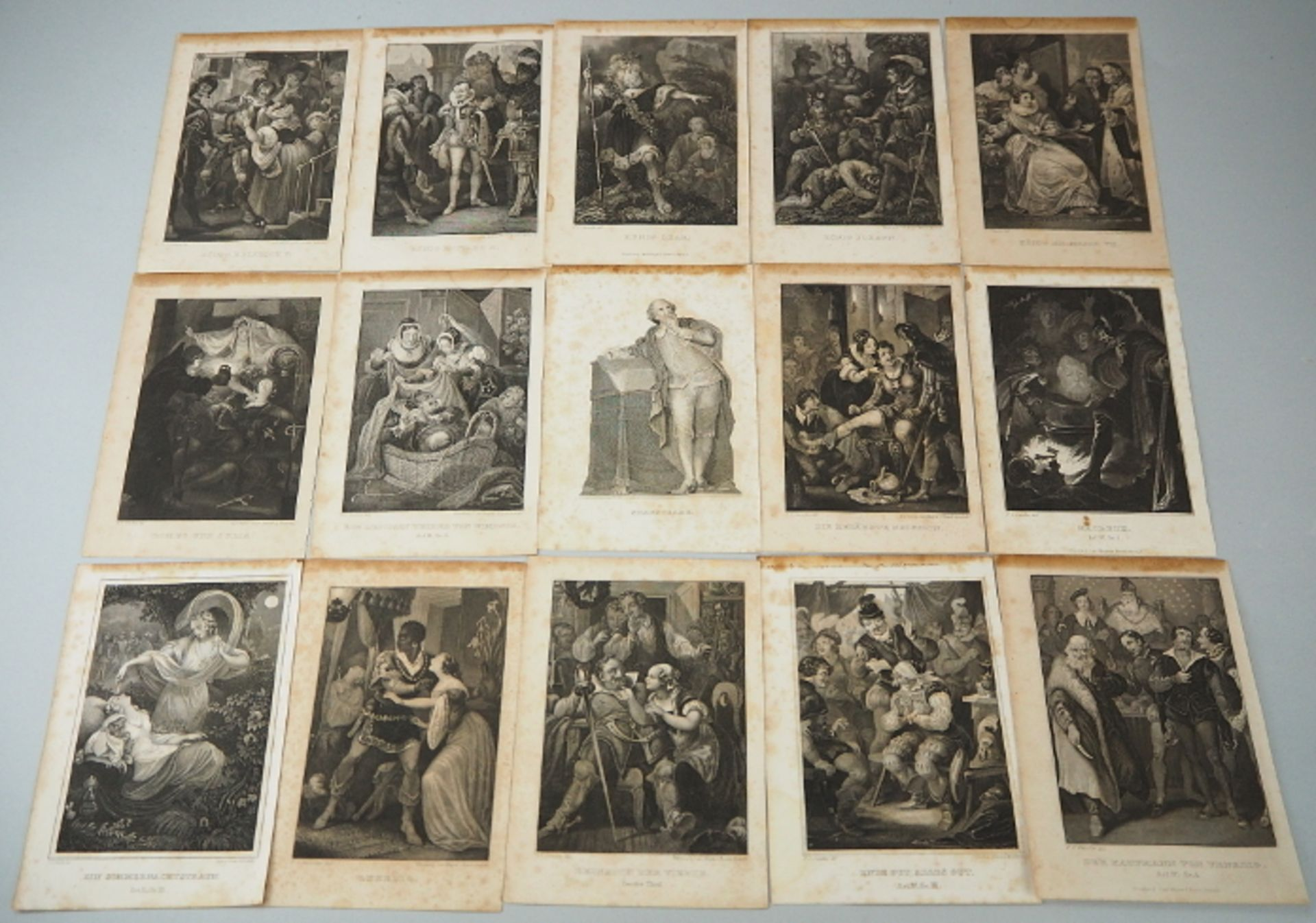 "Konvolut Stahlstiche ""Szenen aus Shakespeare"", L.u. signiert P.C. GEISSLER (wohl Peter"