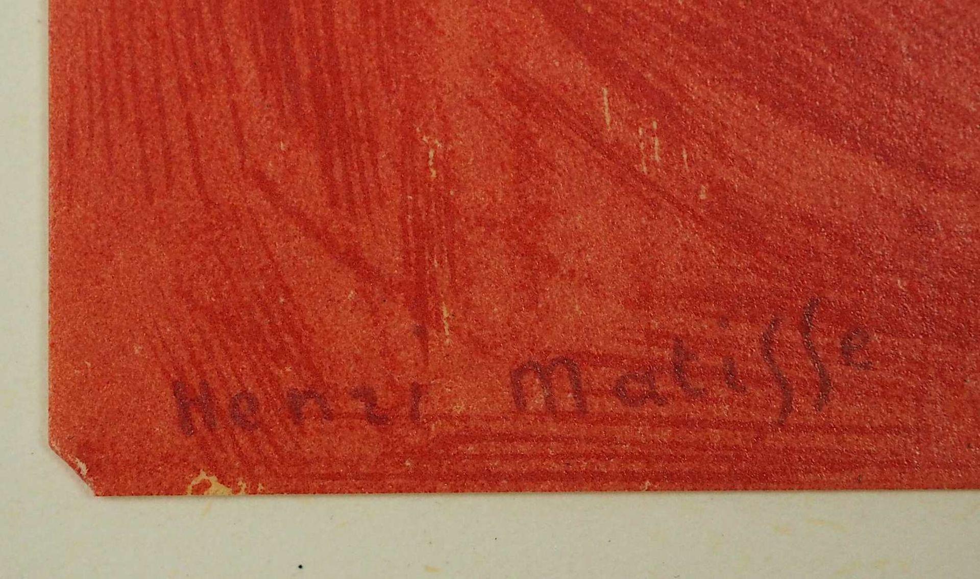 """2 Farblithographien je """"Portrait"""" je L.u. sign./rücks. zugeschrieben Henri MATISSE (w - Bild 3 aus 5"""