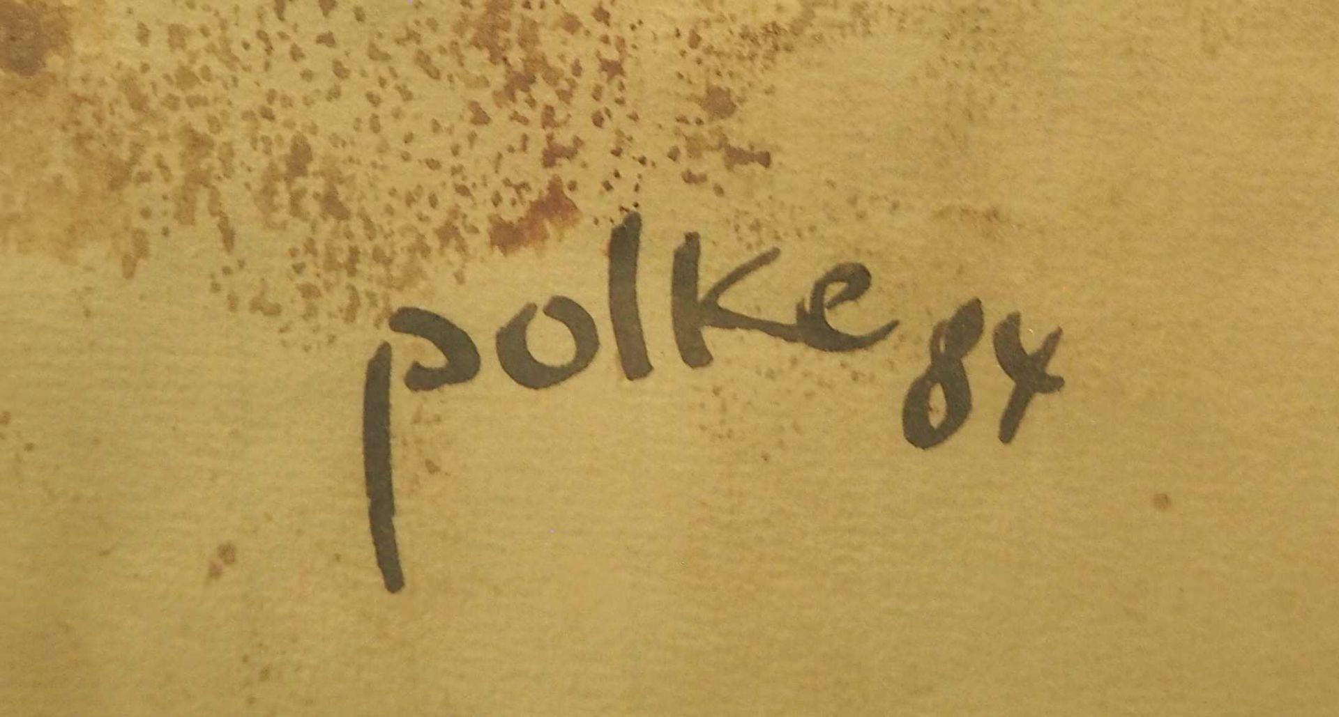 """1 Aquarell """"Spitzen der Gesellschaft"""" R.u. sign. POLKE (wohl Wilfrid P. 1932-2014) R.u - Bild 3 aus 3"""