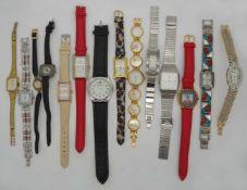 1 Konv. Armbanduhren Metall, Kunststoff, Leder versch. Asp./ Gsp.