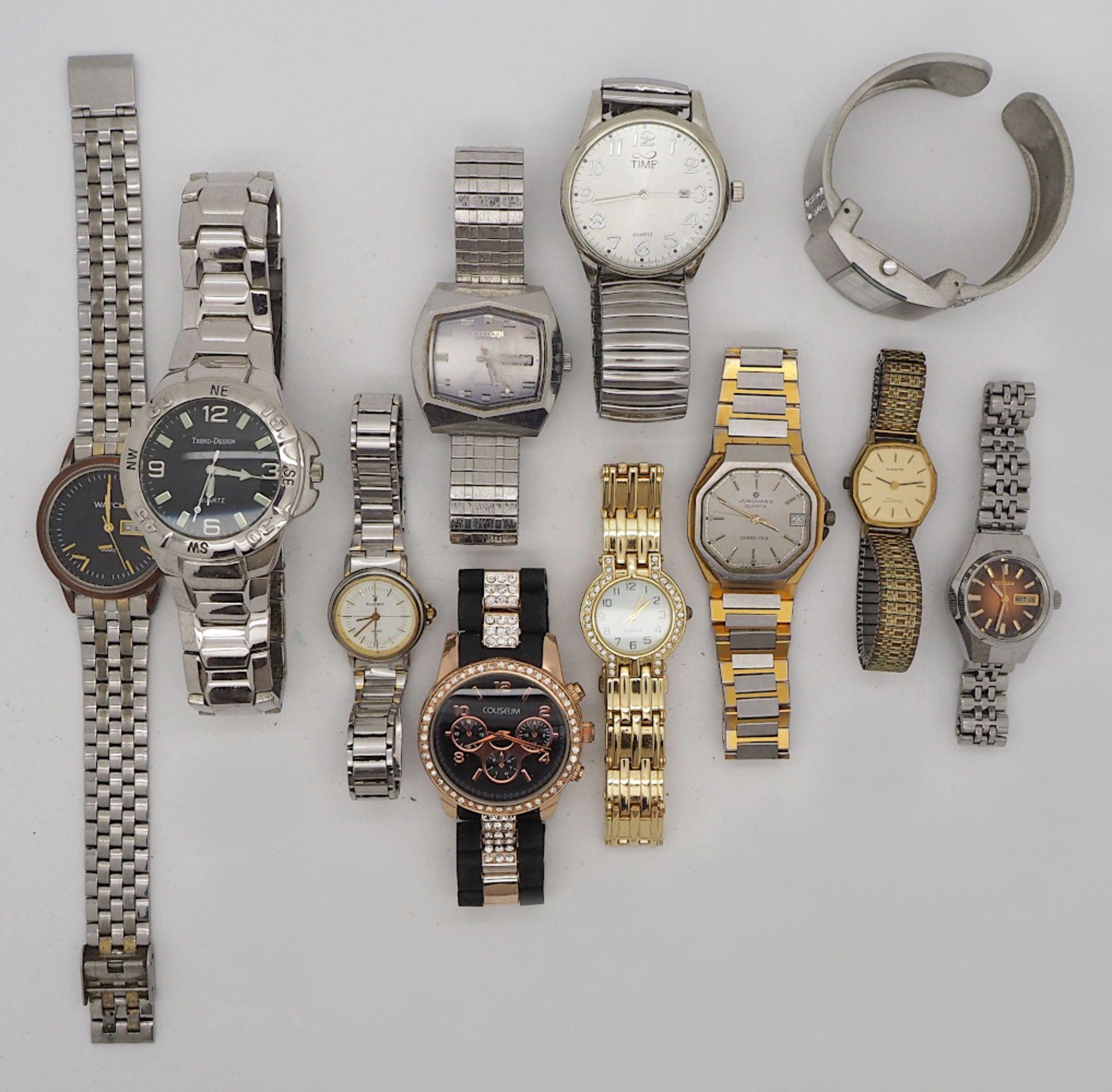 1 Konv. Armbanduhren Metall, Leder u.a. Asp./ Gsp. - Bild 2 aus 2