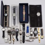 1 Konv. Armbanduhren versch. Metall u.a. SWATCH u.a. Gsp.
