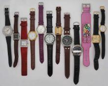 1 Konv. Armbanduhren Metall, Leder, Kunststoff Asp./ Gsp.