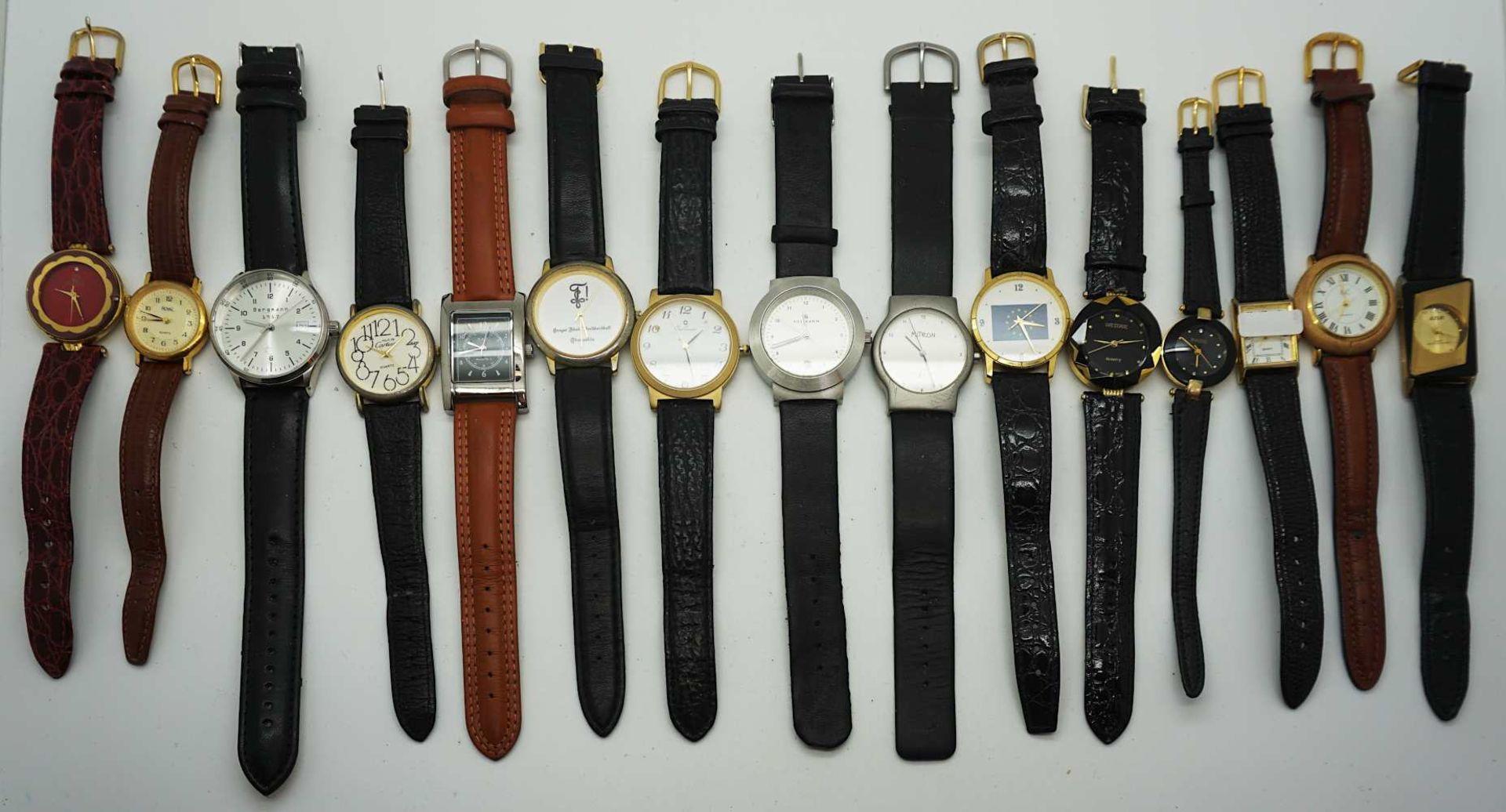 1 Konv. Armbanduhren Metall/ Leder nztl. z.T. besch. Asp. - Bild 2 aus 2