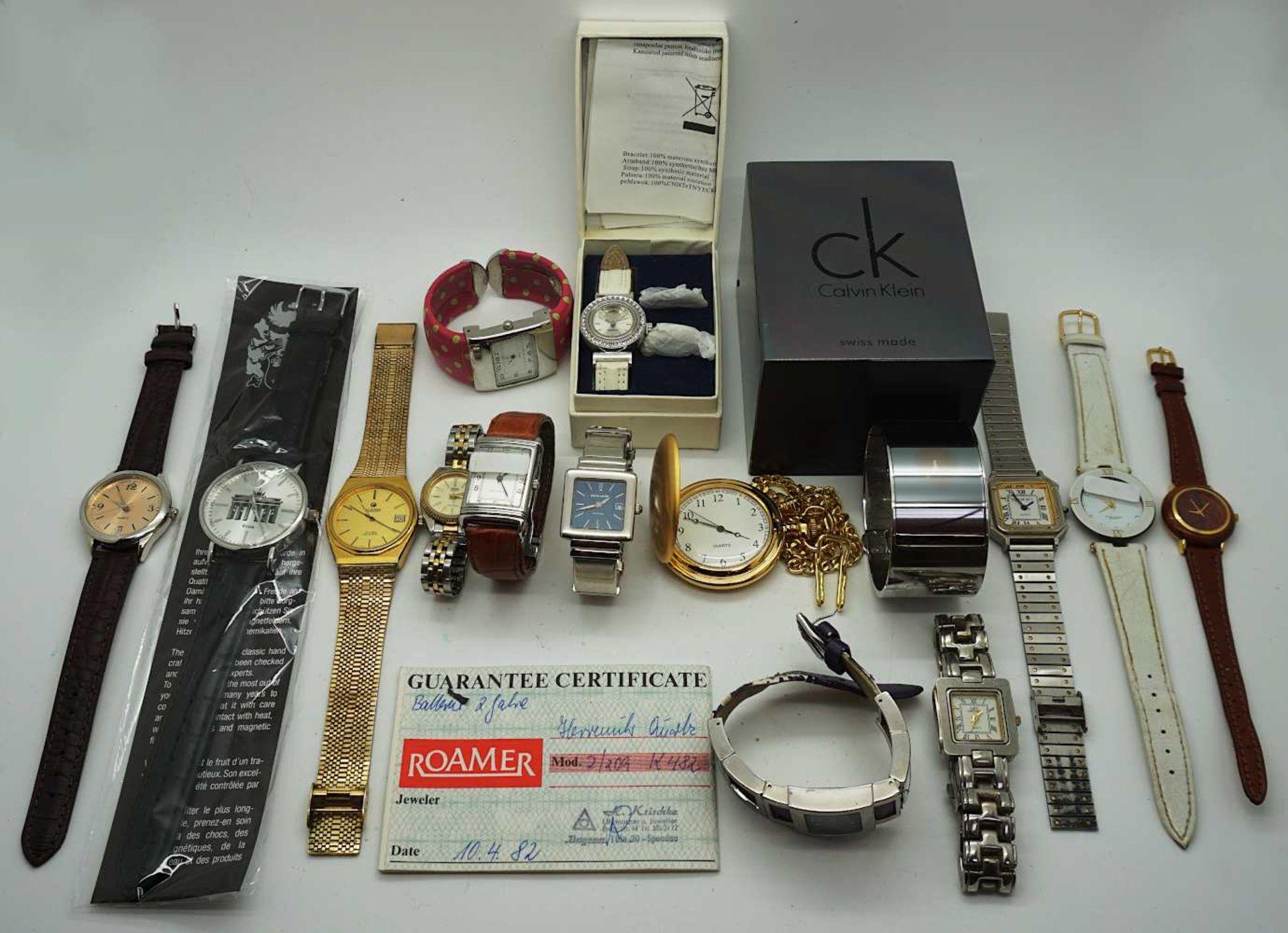1 Konv. Armbanduhren Metall/ Leder nztl. z.T. besch. Asp.