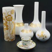 1 Konv. Vasen Porzellan ROSENTHAL Form: Romanze, Design: Björn WIINBLAD