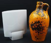 1 Vase Porzellan ROSENTHAL weiß glasiert