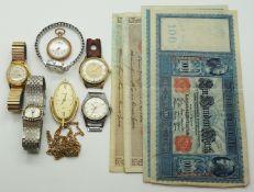 1 Konv. Armbanduhren Metall u.a. z.T. vergoldet