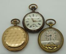1 Taschenuhr Silber 800, um 1900