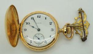 1 Damentaschenuhr GG 14ct. ELGIN, USA um 1900