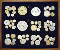 1 Konv. Uhrwerke von Taschen-/Armbanduhren