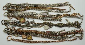 1 Konv. Uhrenketten Metall z.T. vergoldet