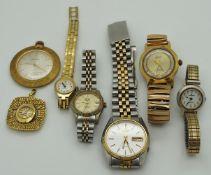 1 Konv. Armbanduhren Metall u.a. z.T. vergoldet versch. z.T. starke Gsp.
