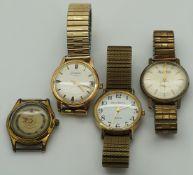 4 Armbanduhren/-gehäuse GLASHÜTTE u.a. z.T. Edelstahl/ Metall