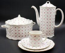 "1 Kaffee-/Speiseservice Porzellan ROSENTHAL Classic Rose Collection ""Streublümchendekor"", goldstaffi"