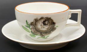 """1 Mokkatässchen Porzellan MEISSEN Marcolinizeit (wohl 1774-1814), """"Blütendekor"""","""