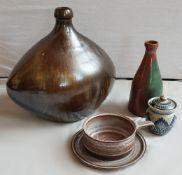 1 Konv. Keramikobjekte KUCH 20. Jh. versch. Dekore:
