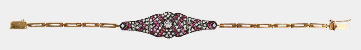 Armband, 750 GG und Silber