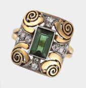 Ring, um 1940-50, 585 GG und WG