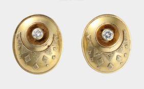 Paar Ohrstecker, 585 GG
