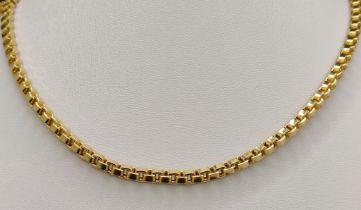 Venezianerkette, 585/14K Gelbgold, 32,85g, Länge 88cmVenetian chain, 585/14K yellow gold, 32,85g,