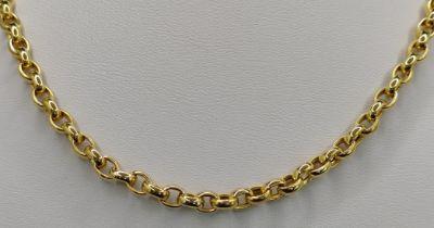 Ankerkette, breit, 585/14K Gelbgold, 15,5g, Länge 40cmAnchor chain, wide, 585/14K yellow gold, 15,