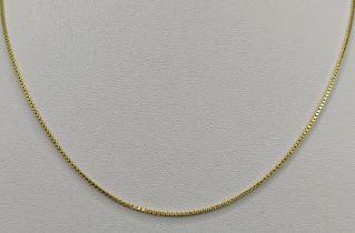 Kette, fein, 585/14K Gelbgold, 3,25g, Länge 40cmChain, fine, 585/14K yellow gold, 3,25g, length