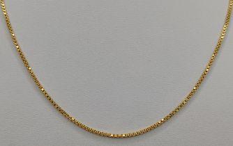 Feine Venezianerkette, 585/14K Gelbgold, 8,0g, Länge 59cmFine Venetian chain, 585/14K yellow gold,
