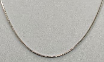"""Moderne Kette, quadratisch, 585/14K Weißgold, Goldschmiedemarke """"ARU"""", 4,5g, Länge 44cmModern"""