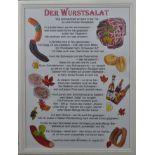 "Lilbob, Josef (21. Jahrhundert, Konstanz) ""Wurstsalat"", Gedicht über den Wurstsalat, Digitaldruck,"