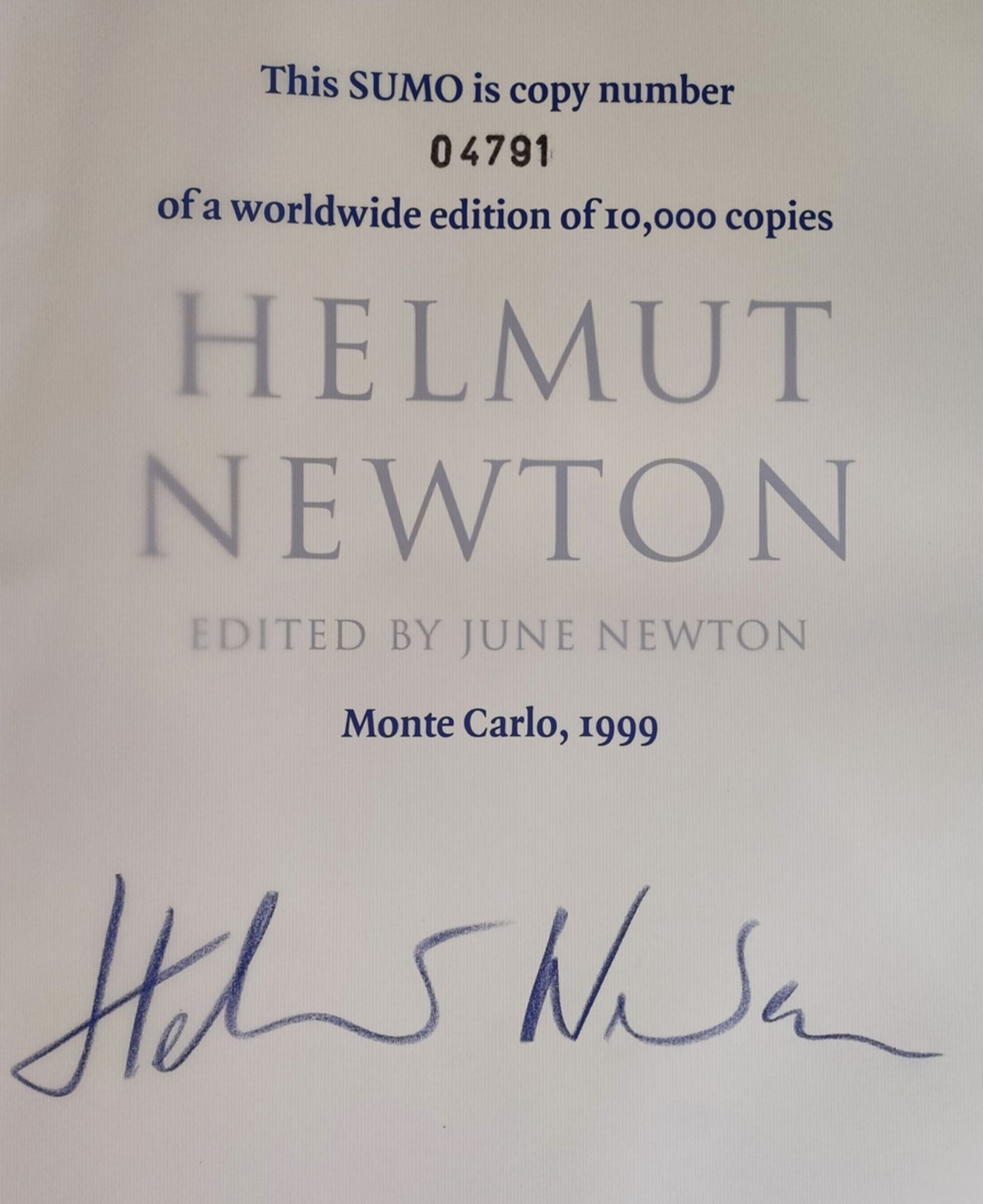 Helmut Newton's SUMO, edition of 10.000 copies, stamped by hand and signed by Helmut Newton, copy 4 - Image 3 of 8