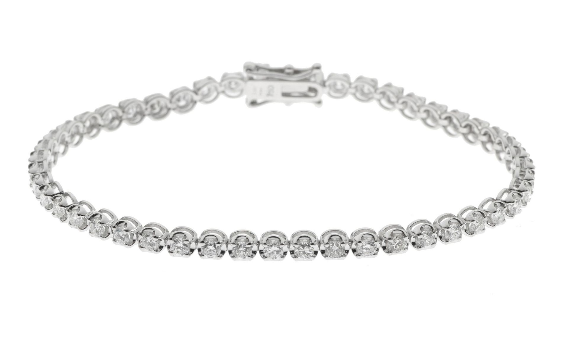 Tennisarmband mit Diamanten - Bild 3 aus 3