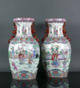 Paar Vasen (China) an eingezogenem
