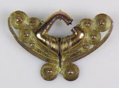 Goldener Nasenring (Tairona, Sierra
