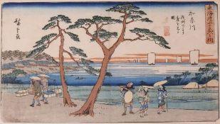 """HIROSHIGE, Ando (1797 - 1858) """"Tokaido"""