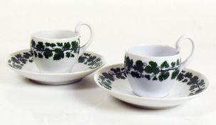 2 Tassen (Meissen, um 1900) mit UT;